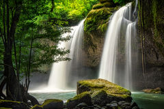 Heo Suwat Waterfall Lizenzfreies Stockfoto