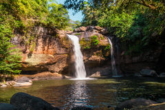 Heo Suwat Waterfall in Khao Yai National Park Royalty Free Stock Image