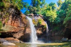 Heo Suwat Waterfall no parque nacional de Khao Yai Fotografia de Stock
