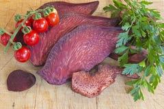 Hepatica de Fistulina (champignon de biftek) Image stock