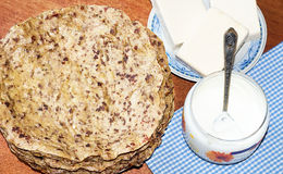 Hepatische Pfannkuchen Lizenzfreies Stockfoto