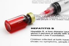 Hepatitis. Close up of vial on Hepatitis Royalty Free Stock Photography