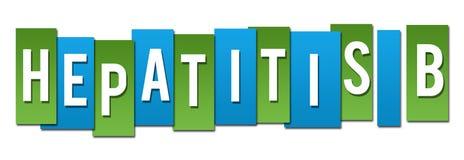 Hepatitis B Green Blue Stripes. Hepatitis B text alphabets written over blue green background Stock Photos
