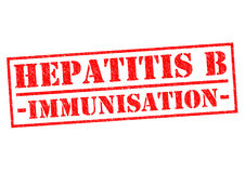 HEPATITIS B IMMUNISATION. Red Rubber Stamp over a white background Stock Photos