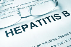 Hepatitis B written on a page. Royalty Free Stock Photo