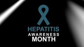 Hepatitis-Bewusstseins-Monat, eine j?hrliche Kampagne, die das Bewusstsein der Virushepatitis erh?ht Hepatitis-Pr?fungstag stock abbildung