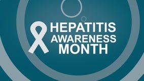 Hepatitis-Bewusstseins-Monat, eine j?hrliche Kampagne, die das Bewusstsein der Virushepatitis erh?ht Hepatitis-Pr?fungstag lizenzfreie abbildung