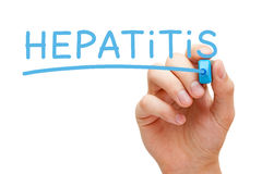 Hepatitis Blue Marker Stock Photography