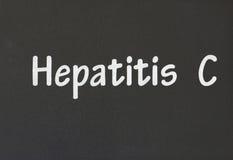 Hepatitis C. Word on a black background Stock Photos