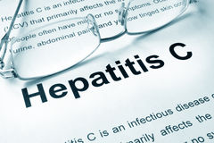 Hepatitis C. Written on a page. Medical concept Royalty Free Stock Photo