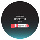 Hepatitis day poster Royalty Free Stock Image