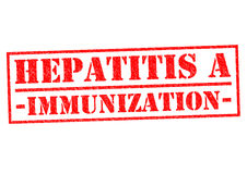 HEPATITIS A IMMUNIZATION. Red Rubber Stamp over a white background Stock Image