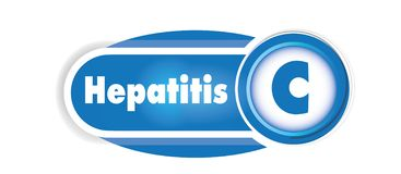 Hepatitis C isolated concept. Blue curves background vector illustration