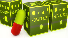 Hepatitis medicines Stock Photos