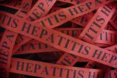hepatitis Stukken van document met de woordenhepatitis Royalty-vrije Stock Fotografie