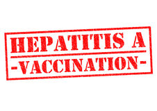 HEPATITIS A VACCINATION. Red Rubber Stamp over a white background Royalty Free Stock Photography