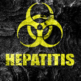 Hepatitis virus concept background. With some soft smooth lines Royalty Free Stock Photo