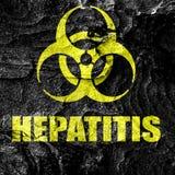 Hepatitis virus concept background Royalty Free Stock Photo