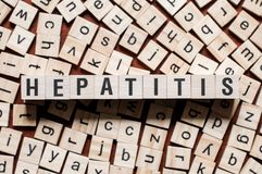 Hepatitis word concept stock photos