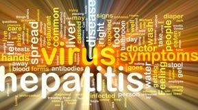 Hepatitiswort-Wolkenglühen Lizenzfreie Stockfotografie