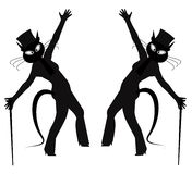 Hepcat dancers Royalty Free Stock Images