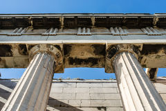 Hephaestus寺庙在古老集市,雅典,希腊 图库摄影