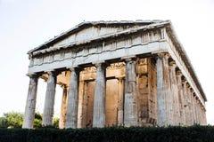 Hephaestus寺庙在古老集市,雅典,希腊 库存照片