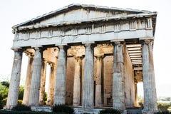 Hephaestus寺庙在古老集市,雅典,希腊 免版税库存照片