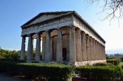 hephaestus寺庙在雅典希腊摄影的 库存照片