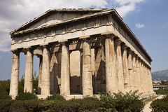 Hephaestus寺庙在雅典 免版税库存图片