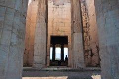 Hephaestus寺庙在集市。雅典,希腊。 库存图片