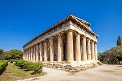 Hephaestus寺庙在集市,雅典,希腊 免版税库存照片
