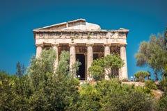 Hephaestus寺庙在集市,雅典,希腊 库存照片