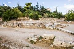 Hephaestus寺庙在集市 库存图片