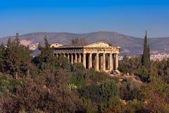 Hephaestus寺庙早晨,雅典,希腊 免版税库存图片