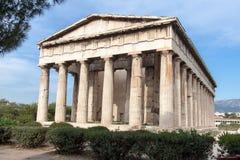 Hephaestus寺庙雅典希腊 库存图片