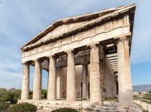 Hephaestus寺庙雅典希腊 库存照片