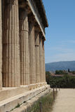 Hephaestus寺庙,古老集市雅典 库存图片