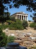 Hephaestus,雅典寺庙 库存照片