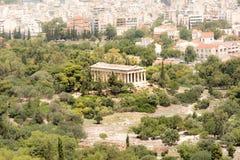 Hephaestus,雅典,希腊寺庙  库存图片
