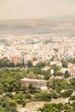 Hephaestus,雅典,希腊寺庙  免版税图库摄影