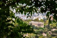 Hephaestus,雅典,希腊寺庙  免版税库存照片