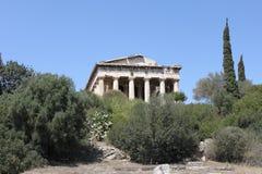 Hephaestus -雅典-希腊的寺庙 库存照片