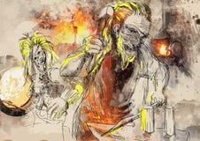 Hephaestus ilustracja wektor