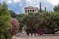 Hephaestus tempel Athens Grekland Fotografering för Bildbyråer