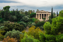 Hephaisteion Temple. The ancient greek temple, Hephaisteion, locates in Agora, Athens,Greece Royalty Free Stock Images