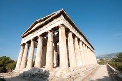 Hephaistos,雅典希腊寺庙  库存图片