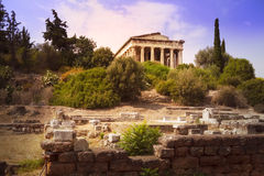 Hephaistos temple in Athens, Greece. Antique temple called Hephaistos temple on the Acropolis in Athens, Greece stock image