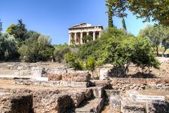 Hephaistos temple in Athens, Greece Royalty Free Stock Photos