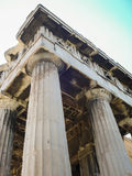 The Hephaistos temple near the Acropolis in Athens Royalty Free Stock Images